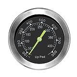 Uppod Outdoorchef grillzubehör Thermostat Grill Thermometer für Smoker 8,9mm mit Rosette, Grillen, Backen, Ofen und Räucherofen S304 Edelstahl (Bis zu 400 °C)