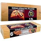 6 XL Grillbretter/Grillplanken aus Zedernholz in BERLNGE 6er Pack