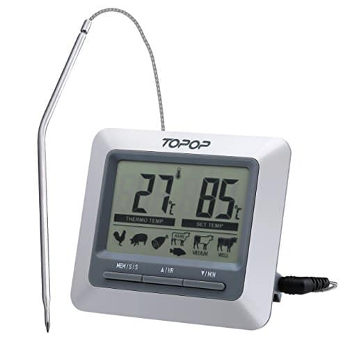 topop-barbecue-grill-thermometer-und-digital-zeitmesser-mit-grossem-lcd-display-304-edelstahl-sonde-bbq-smoker-thermometer-fuer-das-kochen-indoor-outdoor-grill-backofen-fleisch-tuerkei-ste
