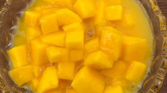 Mangoconfit selbsb gemacht