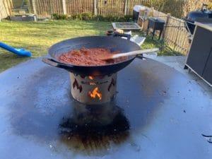 Reinigen der Feuerplatte