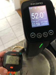 InkBird IBBQ-4T WLAN Temperaturtest 50 Grad